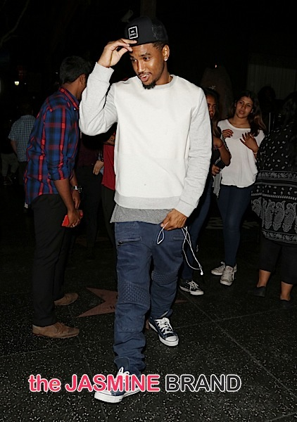 Trey Songz Sighted Departing Katsuya Hollywood on October 26, 2015