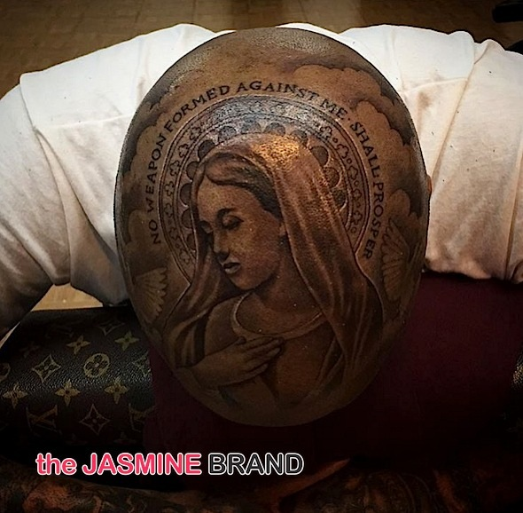 Rapper YG Debuts Religious Head Ink, Zendaya Hits Haunted House + Serena Williams For Harpers Bazaar [Photos]