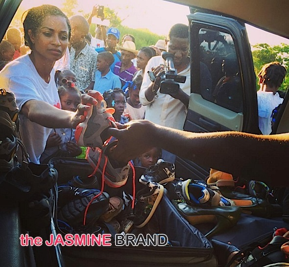 Reality Star Karlie Redd Gives Back to Haiti [Photos]