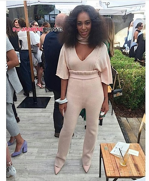 Solange Knowles wearing Ryan Roche-the jasmine brand