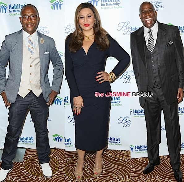 Magic Johnson Receives Dream Builder's Award + Tina Knowles, Tommy Davidson, Maxine Waters Lend Support [Photos]