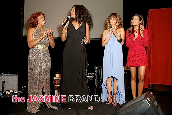 Honorees Gloria Hendry, Trina Parks, Halle Berry, and Naomie Harris