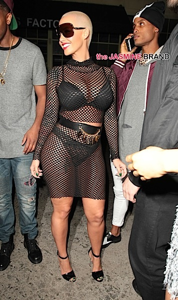 Model Amber Rose clubbing at Ace Of Diamonds strip club , in West Hollywood, CA