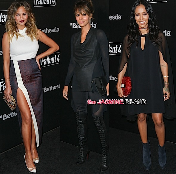 Halle Berry, Chrissy Teigen, Karrueche Tran, Too Short, Randy Jackson Attend 'Fallout 4' Launch [Photos]