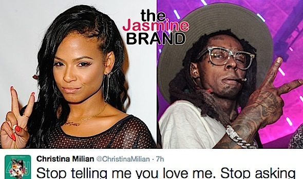 Lil Wayne Reunites With Ex-Fiancee + Christina Milian Slams Rapper On Twitter: Stop telling me you love me!