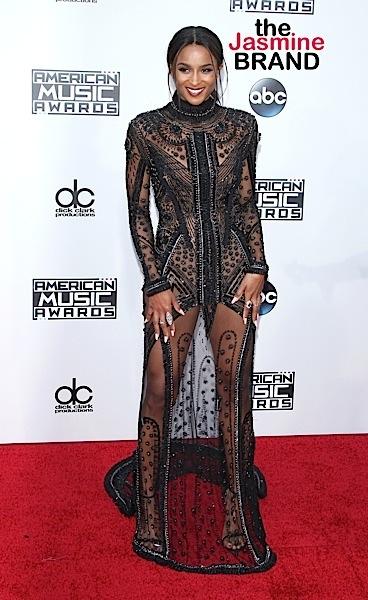 Ciara arrives at the 2015 American Music Awards