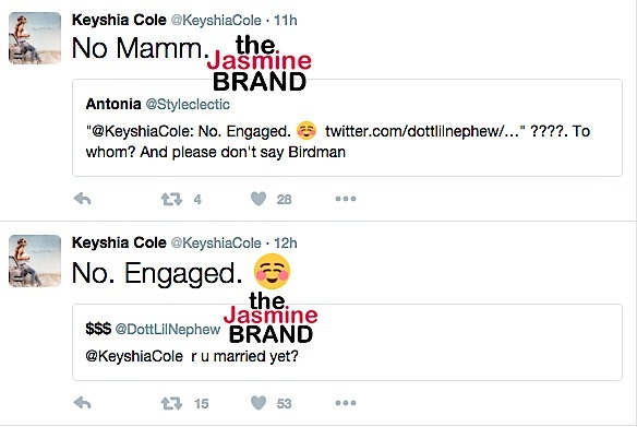 Keyshia Cole Hints Engaged-the jasmine brand