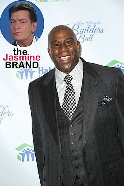 Magic johnson wants to team up with charlie sheen to fight for Charlie johnson builders