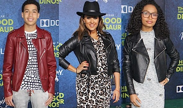 Tamera Mowry Housely, Reggie Miller, Yara Shahidi, Marcus Scribner Attend 'The Good Dinosaur' Premiere [Photos]