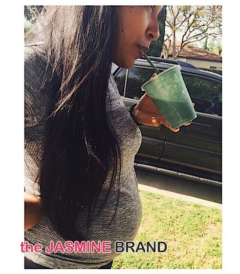 Melanie Fiona Baby Bump-the jasmine brand