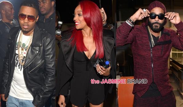 Nas, Monica, Jim Jones Party in ATL [Photos]