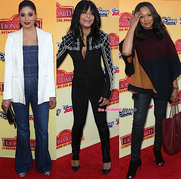 Christina Milian, Rachel Roy, Miles Brown, Garcelle Beauvais Spotted At 'The Lion Guard' Premiere