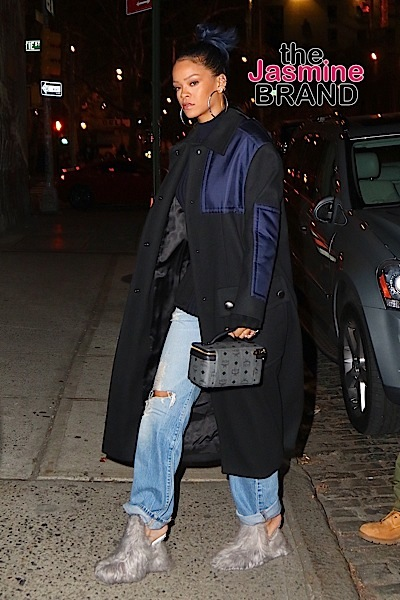 Rihanna heads out for a late night tattoo at Bang Bang before flying out of NYC for the Thanksgiving holiday