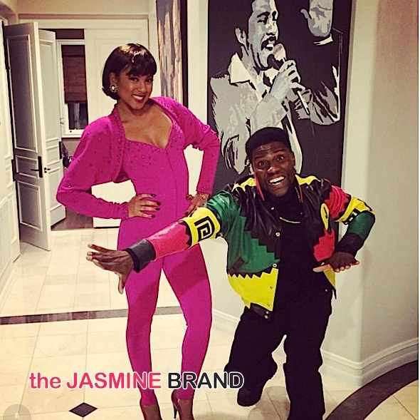 Eniko Parrish & fiance Kevin Hart (as Martin & Gina Paye)