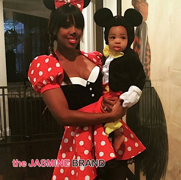 Kelly Rowland & Baby Titan (as Minnie & Mickey Mouse)
