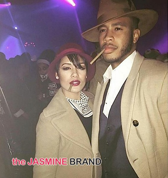 Empire's Grace Gealey & fiance Trai Byers (as Bonnie & Clyde)