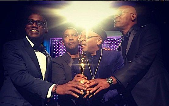 Spike Lee Receives Honorary Oscar + Denzel Washington, Samuel L. Jackson, Wesley Snipes Lend Their Support! [VIDEO]