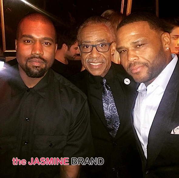 Kanye West, Al Sharpton, Anthony Anderson