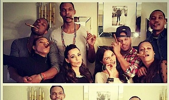Cigars & Pumpkin Pie: NBA's D.Wade, Carmelo Anthony, Chris Bosh & Wives Spend Thanksgiving Together