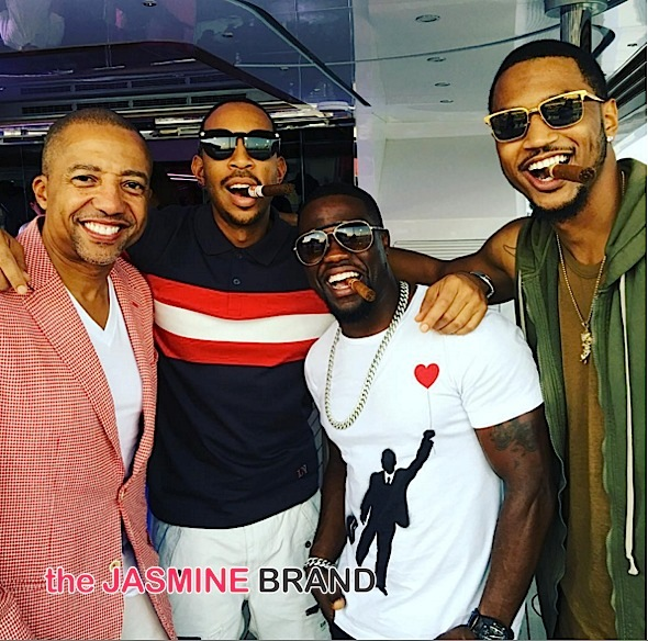 Kevin Hart, Trey Songz, Ludacris, Kevin Liles Hit the Formula 1 Races [Photos]