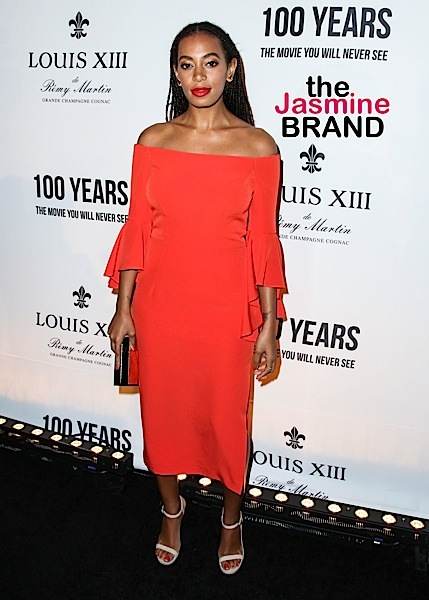 Solange Knowles arrives at the Louis XIII Celebration of '100 Years' The Movie You Will Never See