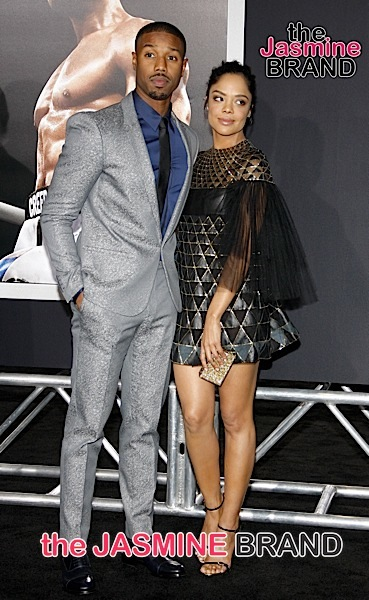 Tessa Thompson and Michael B. Jordan