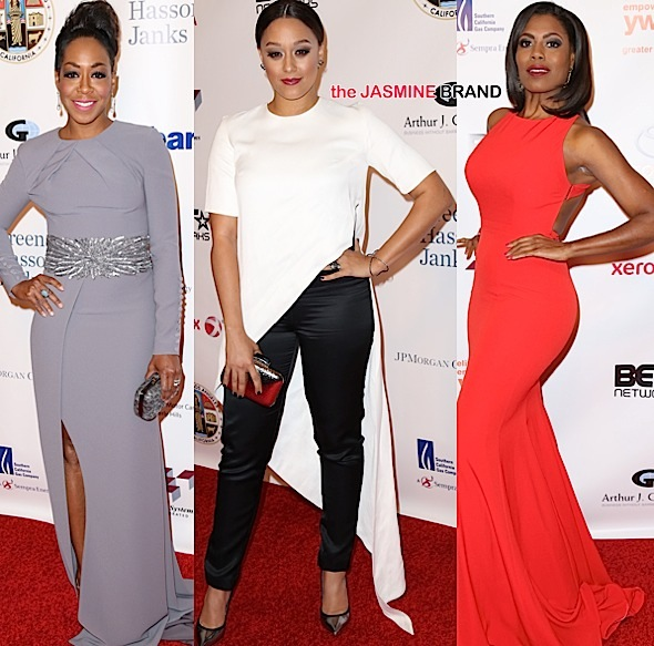 Tia Mowry Hardrict, Tichina Arnold, Omarosa, Debra Lee Attend Rhapsody Gala [Photos]