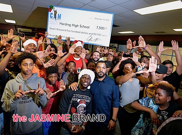 Kevin Hart, Ice Cube & Cam Newton Surprise High School Students [Photos]