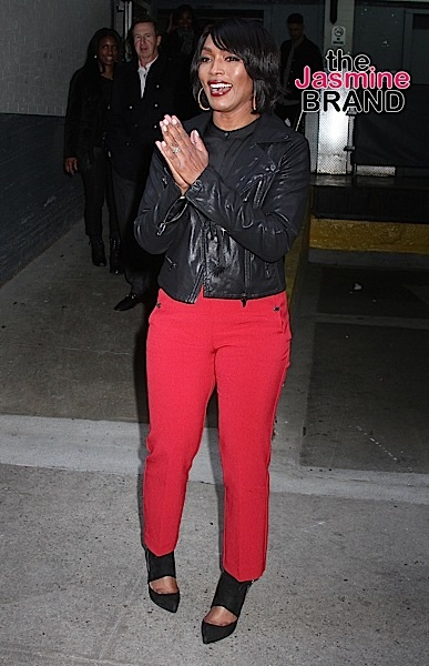 Actress Angela Bassett spotted leaving 'HuffPost Live' in NYC's East Village