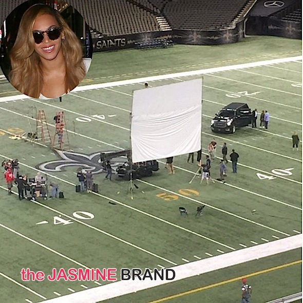 Beyonce Shoots at Super Dome, Mariah Carey Cuddles Up With James Packer, Floyd Mayweather Turns Up With Kids + Porsha Williams, Gabrielle Union & D. Wade [Photos]