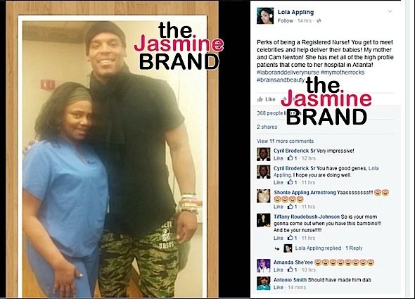 Cam Newton-Welcomes Baby-the jasmine brand