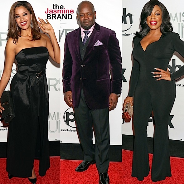 Claudia Jordan, Niecy Nash, Emmitt Smith, Steve Harvey & Wife Hit 'Miss Universe' Red Carpet [Photos]