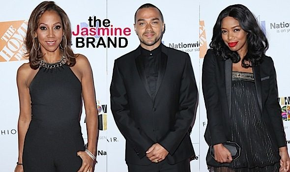 Jesse Williams, Zendaya, Holly Robinson Peete, Jill Marie Jones, Tommy Davidson Spotted at EBONY 100