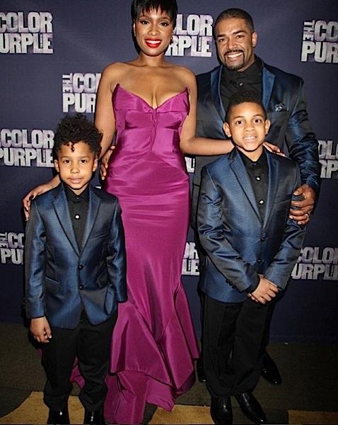 Jennifer Hudson-Fiance David-Son-The Color Purple Opening-the jasmine brand