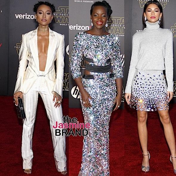 'Star Wars' Premiere: Lupita Nyong'o, Karrueche Tran, Zendaya, Janelle Monae, F. Gary Gray Attend [Photos]
