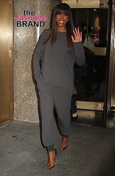Singer Kelly Rowland spotted leaving NBC Studios in NYC's Rockefeller Center