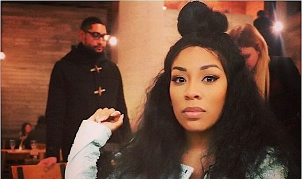 "K. Michelle Startles Uninvited Guest Through Home Surveillance: ""Get your a** off this porch!"""