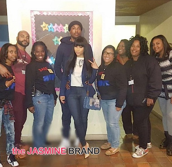 Nicki Minaj & Meek Mill Visit Philly Group Home [Photo]
