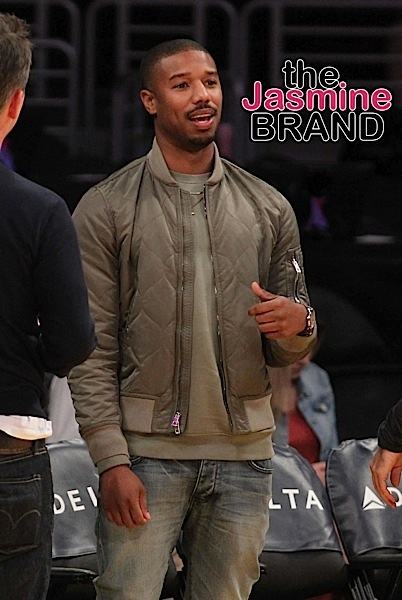Michael B. Jordan comes to the Lakers game