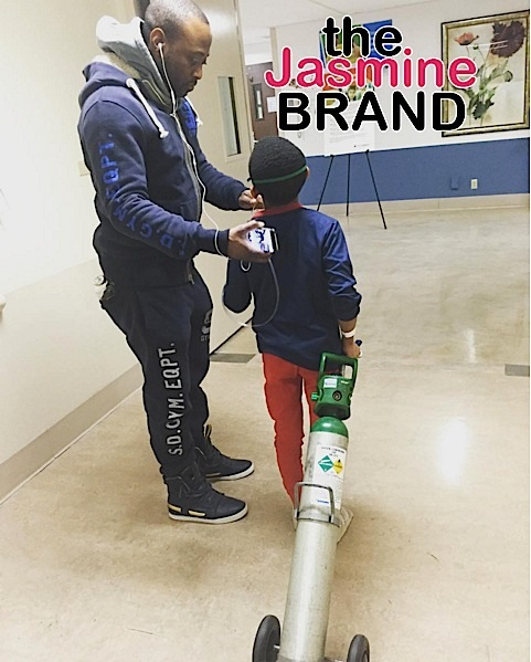 Omar Epps' Son Released From Hospital, After Being In ICU on Oxygen Tank [Photos]