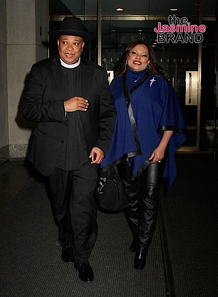 Legendary rapper and media personality Reverend Run and wife Justine spotted leaving the 'Today' show in NYC's Rockefeller Center
