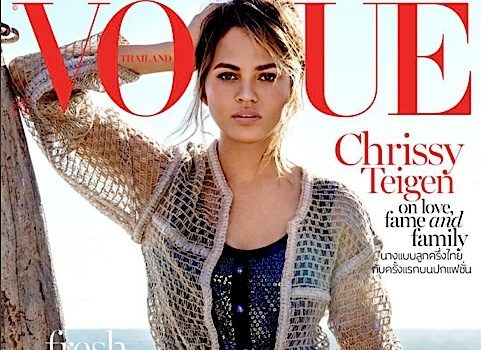 Chrissy Teigen Reveals Sex of Unborn Baby, Covers Vogue Thailand