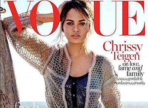 Chrissy Teigen Reveals Sex of Unborn Baby, Covers Vogue Thailand