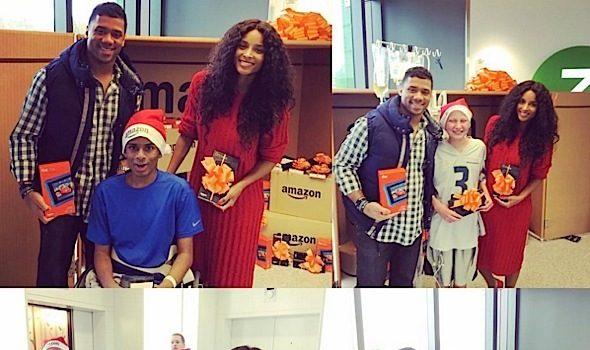 Ciara, Russell Wilson & Chris Pratt Give Seattle Children's Hospital 300 Kindles! [Photos]
