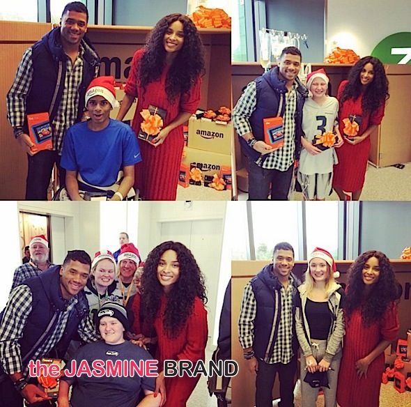Ciara, Russell Wilson & Chris Pratt Give Seattle Children's Hospital 300 Kindles! [Photos]