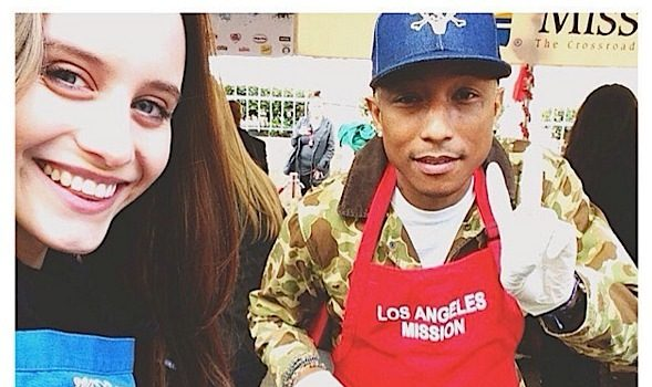 Pharrell, Tommy Davidson, Garcelle Beauvais Feed Homeless on Skid Row [Photos]