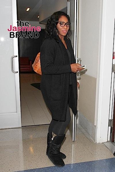 Serena Williams is seen at LAX