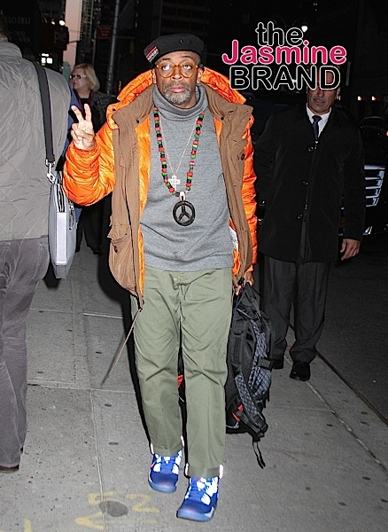 Film director Spike Lee arrives at the 'Late Show with Stephen Colbert' in NYC