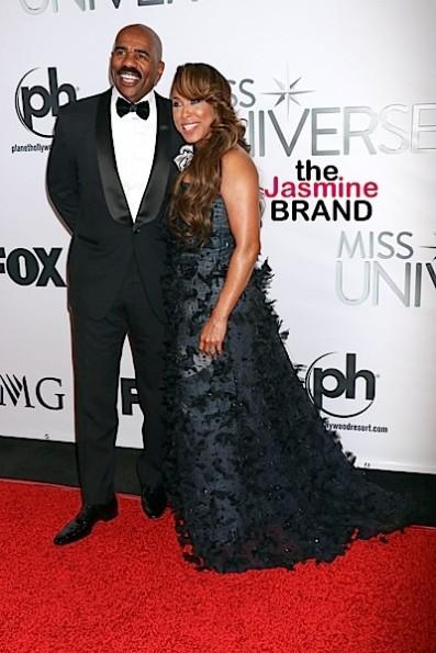 Steve Harvey, wife Marjorie at Miss Universe