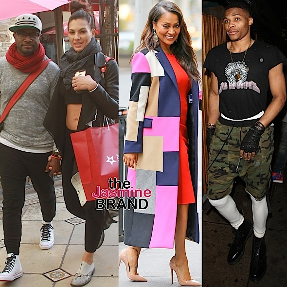 Taye Diggs-Lala Anthony-Russell Westbrook-the jasmine brand